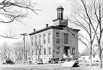 Old Shawneetown, Illinois - Old Shawneetown Court House in 1937