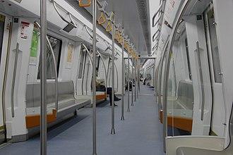 Line 2 (Shenzhen Metro) - Interior of CRRC Changchun train