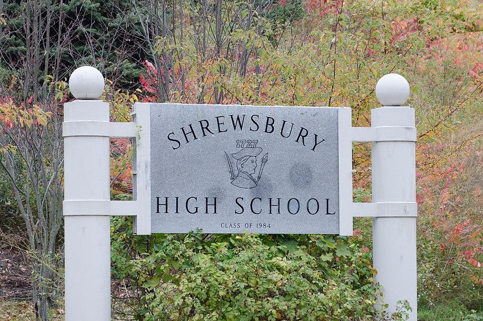 Shrewsbury High School entrance sign