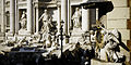 Side view of the Trevi Fountain. Trevi district, Rome, Italy.jpg