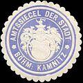 Siegelmarke Amtssiegel der Stadt Böhm. Kamnitz W0318976.jpg