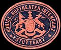 Siegelmarke Königliche Hoftheater - Intendanz - Stuttgart W0225306.jpg