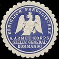 Siegelmarke K.Pr. 6. Armee-Korps Stellv. Generalkommando W0348217.jpg
