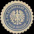 Siegelmarke K.Pr. Standesamt Wabern Kreis Fritzlar W0345910.jpg