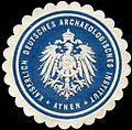 Siegelmarke Kaiserlich Deutsches Archaeologisches Institut - Athen W0225619.jpg