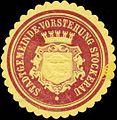 Siegelmarke Stadtgemeinde-Vorstehung Stockerau W0318062.jpg