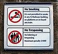 Sign at City Hospital railway halt - geograph.org.uk - 1130902.jpg