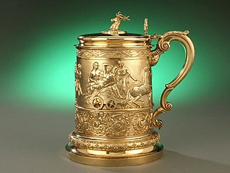 Rundell and Bridge - Silver Gilt Tankard by Rundell, Bridge and Rundell. Hallmarked 1820