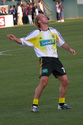 Simon Elliott - Elliott playing for Columbus Crew