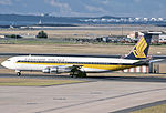 Singapore Airlines Boeing Boeing 707-327C at Sydney Airport.jpg