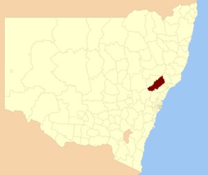 Singleton Council - Location in New South Wales