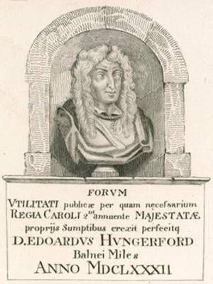Edward Hungerford (spendthrift) - Image: Sir Edward Hungerford Bust Hungerford Market