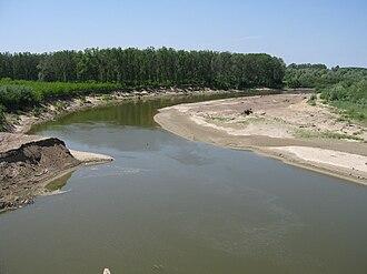 Siret (river) - Siret River at Mircești