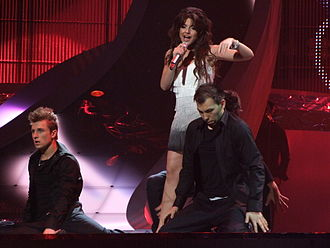 Sirusho - Sirusho performing Armenia's entry at the Eurovision Song Contest 2008