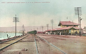 16th Street station (Oakland) - The original station in 1910