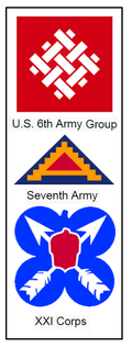 Sixth Army Group, Seventh Army, XXI Corps insignia composite.png