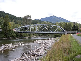 Skykomish, Washington - Image: Skykomish, WA bridge 02