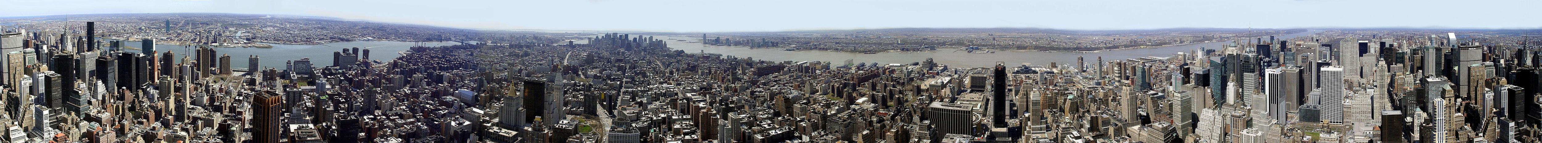 Manhattan desupre de Empire State Building
