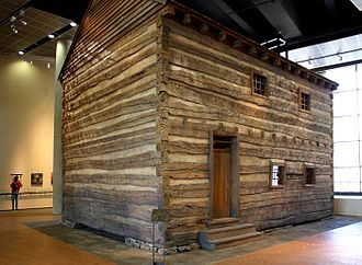 National Underground Railroad Freedom Center - The Slave Pen, the principal artifact at the Freedom Center, was transported from its original Kentucky location and reconstructed on the second floor of the Center