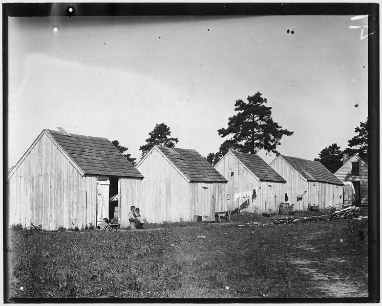 File:Small shack on Forsythe's Bog occupied by DeMarco family, 10 in the faiily living in this one room. Room is 10 ft. x... - NARA - 523269.tif