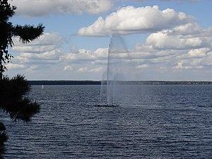 Фонтан на озере Синара