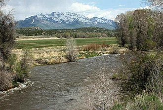 South Fork Humboldt River - South Fork and its source, the Ruby Mountains
