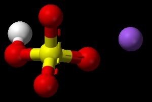 Sodium bisulfate - Image: Sodium bisulfate 3D balls ionic