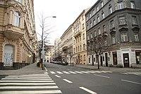 South view of Italská street in Vinohrady, Prague.jpg