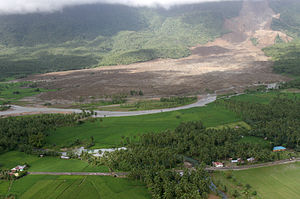 2006 Southern Leyte mudslide - View of the Southern Leyte rockslide-debris avalanche toe