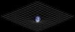 Tweedimensionale weergave van een ruimte-tijd-vervorming