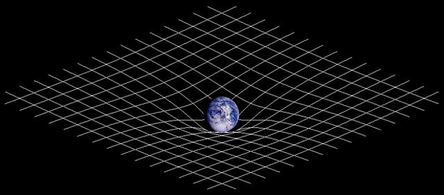 Искривление пространства массивным телом