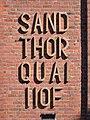 Speicherstadt (Hamburg-HafenCity).Block H.Schriftzug Westseite.ajb.jpg