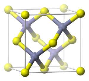 Compounds of zinc - a unit cell of zincblende