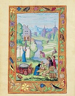Splendor Solis - Traité d'Alchimie - Femmes lavant le linge.jpg