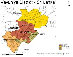 DS and GN Divisions of Vavuniya District, 2006