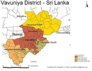 Vavuniya District - Image: Sri Lanka Vavuniya District