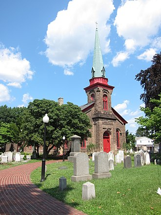 Bristol Historic District - St. James Episcopal Church, designed by Samuel Sloan.