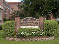 St. Joseph Co-Cathedral sign- Thibodaux, Louisiana.JPG