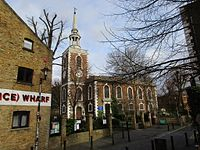 St. Mary's Church, Rotherhithe in February.jpg