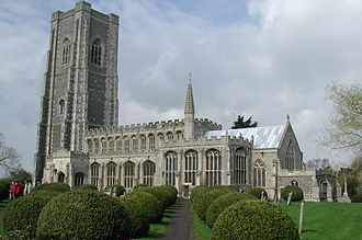Spring family - Church of St Peter and Paul, Lavenham, Suffolk, built with money from the Spring family