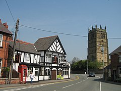 St Eurgain and St Peter's Church and The Red Lion - geograph.org.uk - 888505.jpg