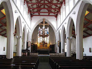 St Matthew's Church, Sheffield - The interior of the church.
