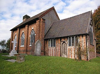 Close studding - St Michael's Church, Baddiley, one of the oldest surviving close-studded buildings