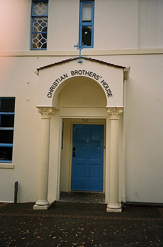 St Peter's College, Auckland - St Peter's College, Christian Brothers' House entrance (1939) Photograph 2009