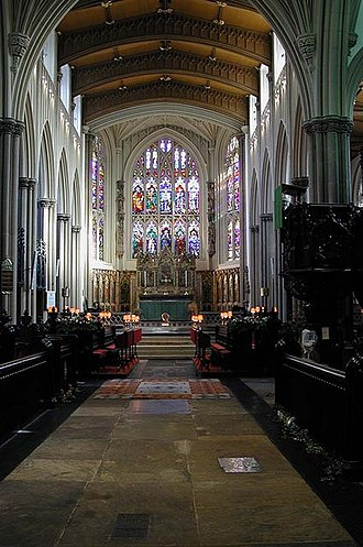 Leeds Minster - Interior of the Parish Church.