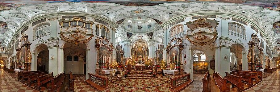 Panorama der Stiftskirche St.Peter in Salzburg