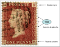 Stamp GB 1864 Victoria 1p rouge detail.png