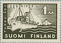 Stamp of Finland - 1929 - Colnect 581090 - 1 - 700th Anniversary of Turku Harbour and s s Bore.jpeg