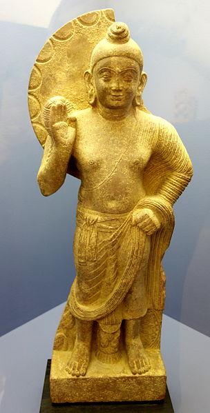 File:Standing Buddha, Mathura, India, 1-99 AD, sikri sandstone - Fitchburg Art Museum - DSC08847.JPG