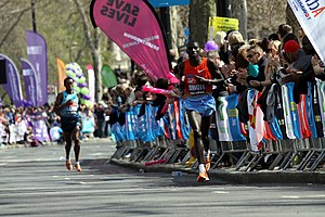 Stanley Biwott - Stanley Biwott during 2013 London Marathon